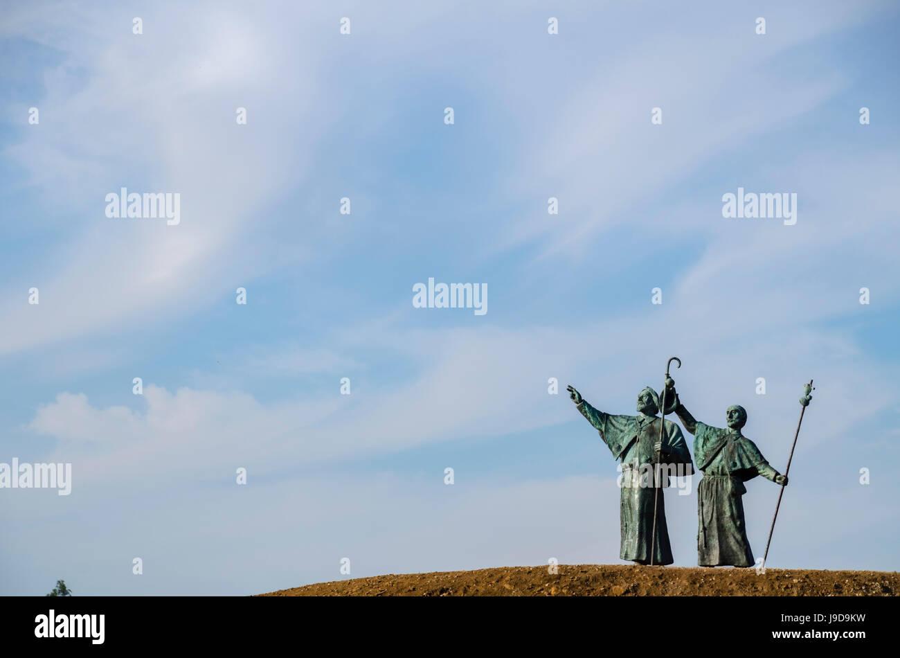 Monte do Gozo (Mount Joy), Santiago de Compostela, A Coruna, Galicia, Spain, Europe - Stock Image