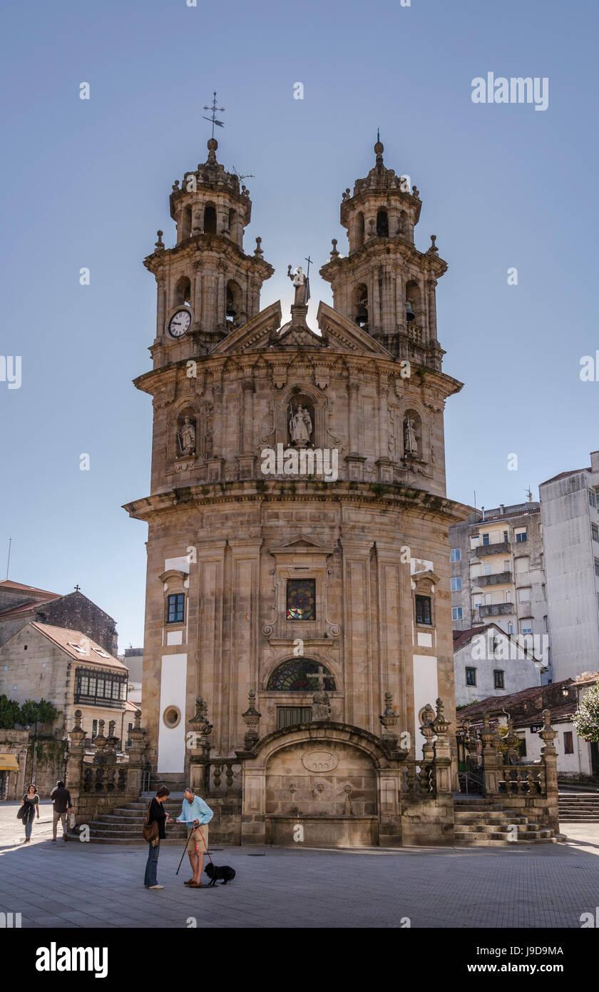 The Chapel of the Pilgrims on the Camino de Santiago in Pontevedra, Pontevedra, Galicia, Spain, Europe - Stock Image