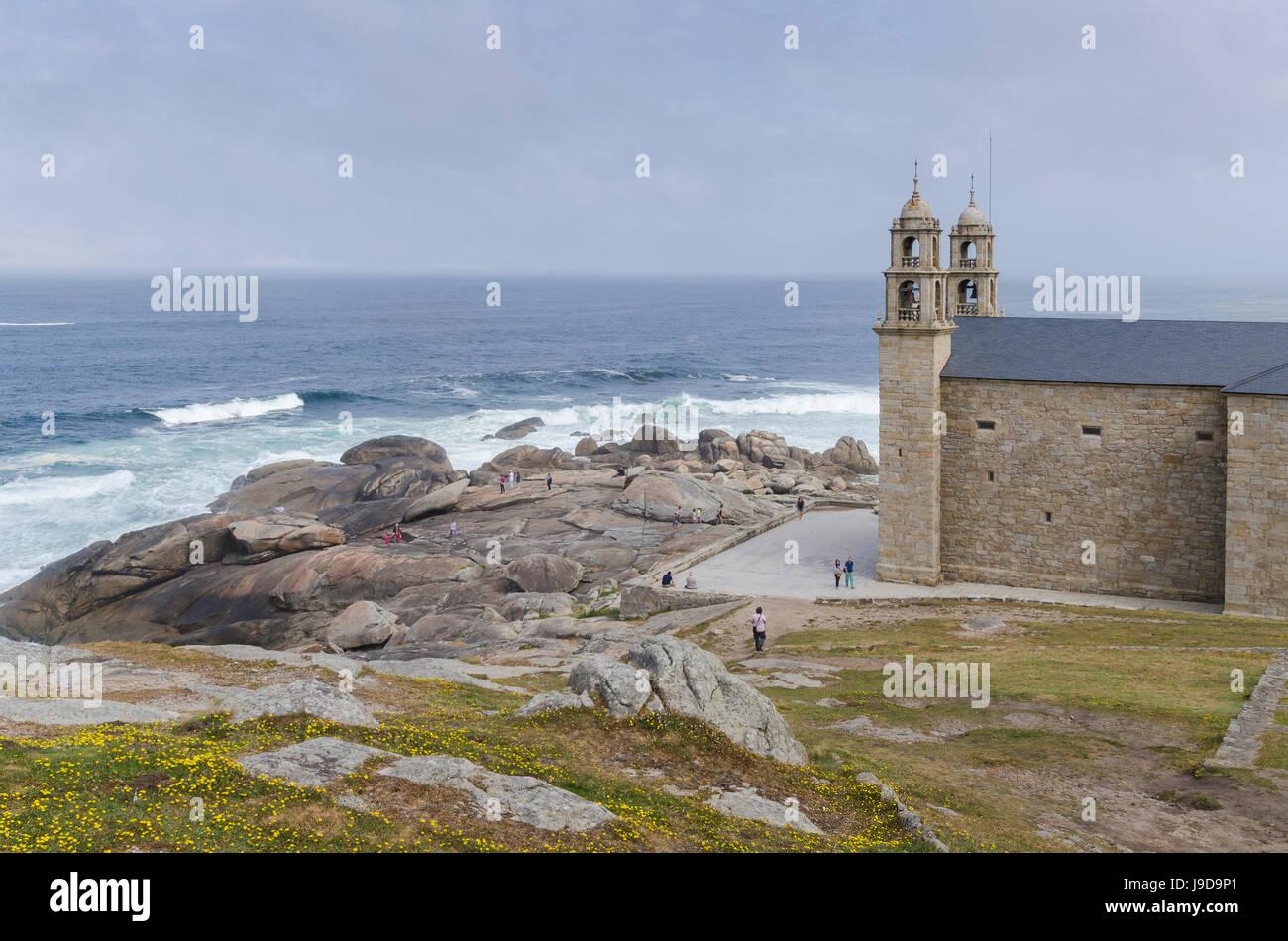Nosa Senora da Barca (Our Lady of the Boat) Church in Muxia, A Coruna, Galicia, Spain, Europe - Stock Image