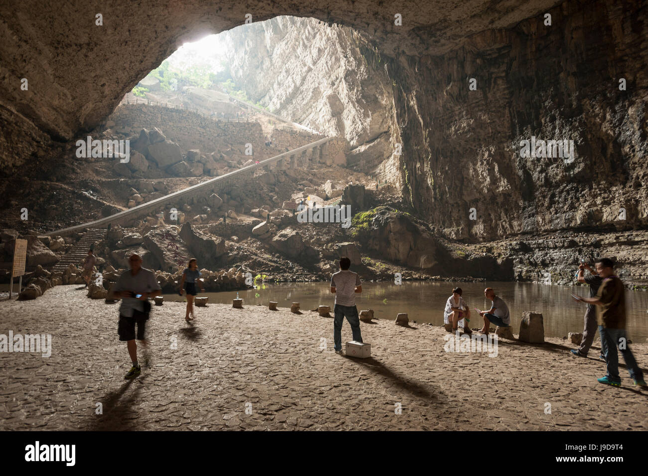 Karst Cave at Xinwen Stone Sea Global Geo Park, Sichuan Province, China, Asia - Stock Image