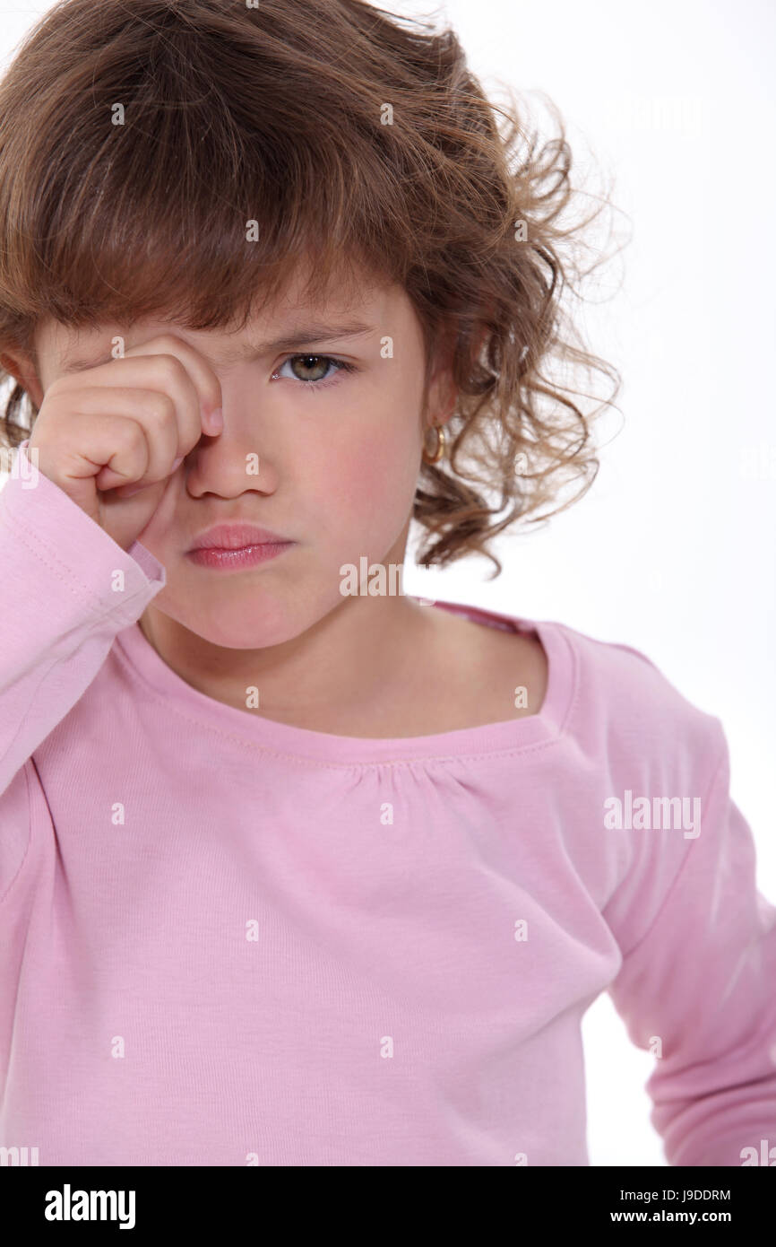 beautiful, beauteously, nice, blank, european, caucasian, baby, blink, Stock Photo