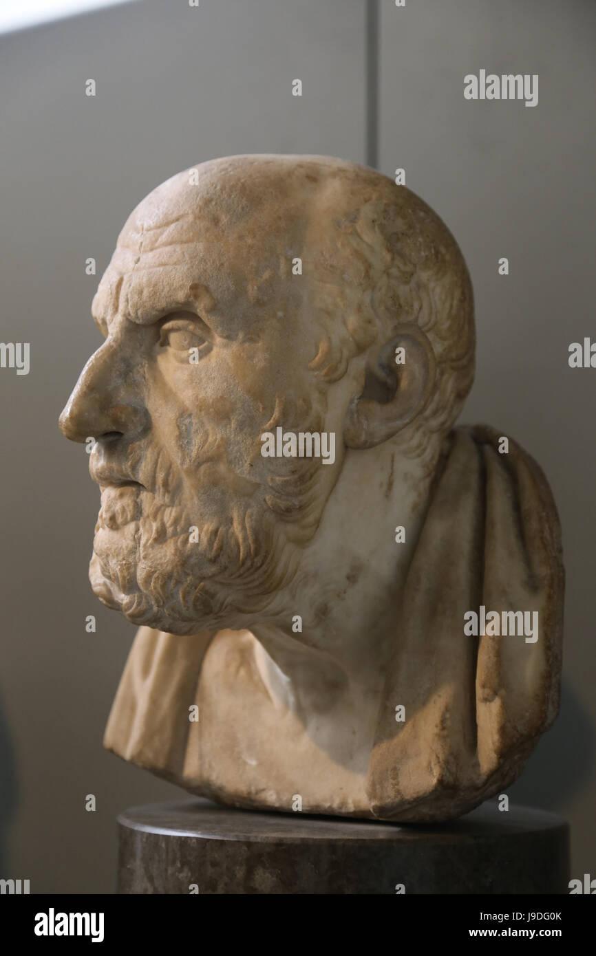 Chrysippos (279-206 BC). Greek Stoic philosopher. Roman copy of Greek original, 2nd century BC. British Museum. - Stock Image