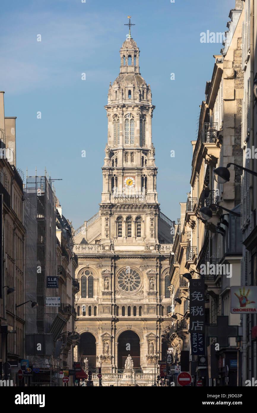 Église de la Sainte-Trinité, Holy Trinity Church, Paris, France - Stock Image