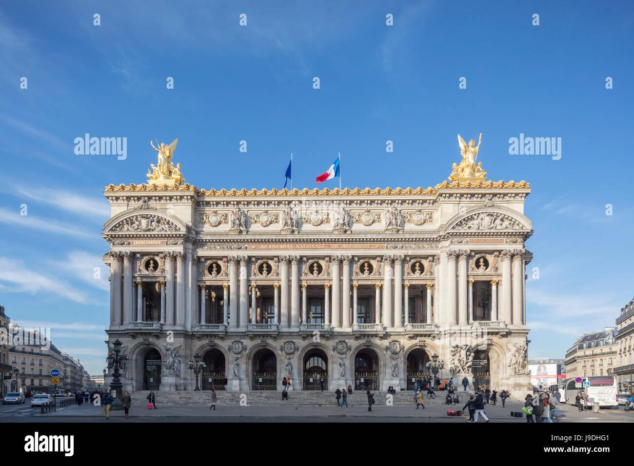 Palais Garnier Opera House, Paris, France - Stock Image