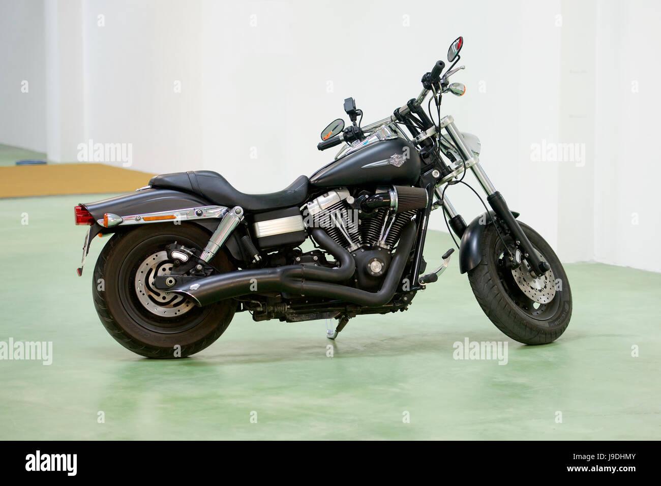 Harley Davidson FXDF Fat Bob Motorcycle - Stock Image