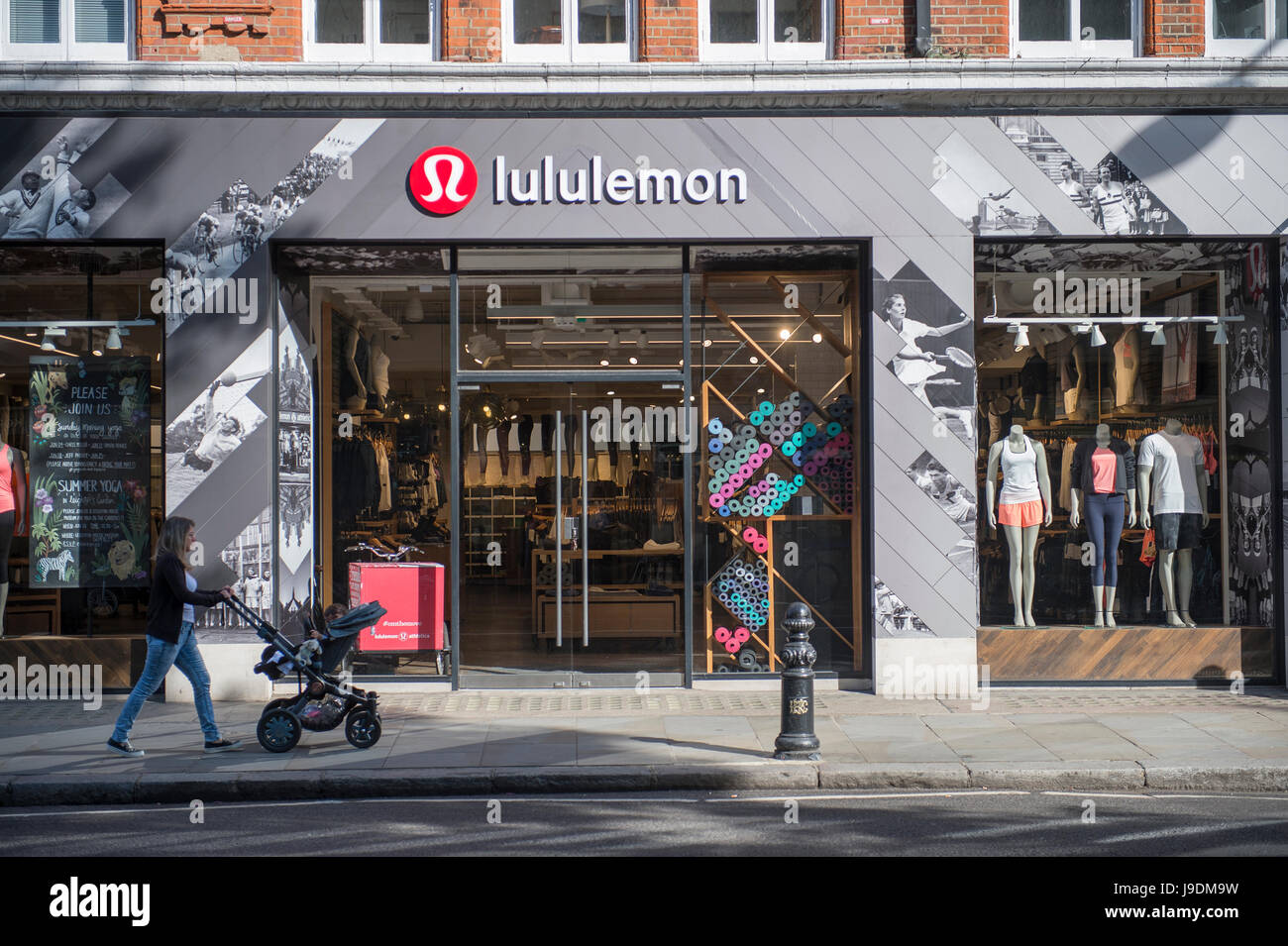 fbc3b2c4673 Lululemon athletic clothing store in Kings Road, Chelsea, London - Stock  Image