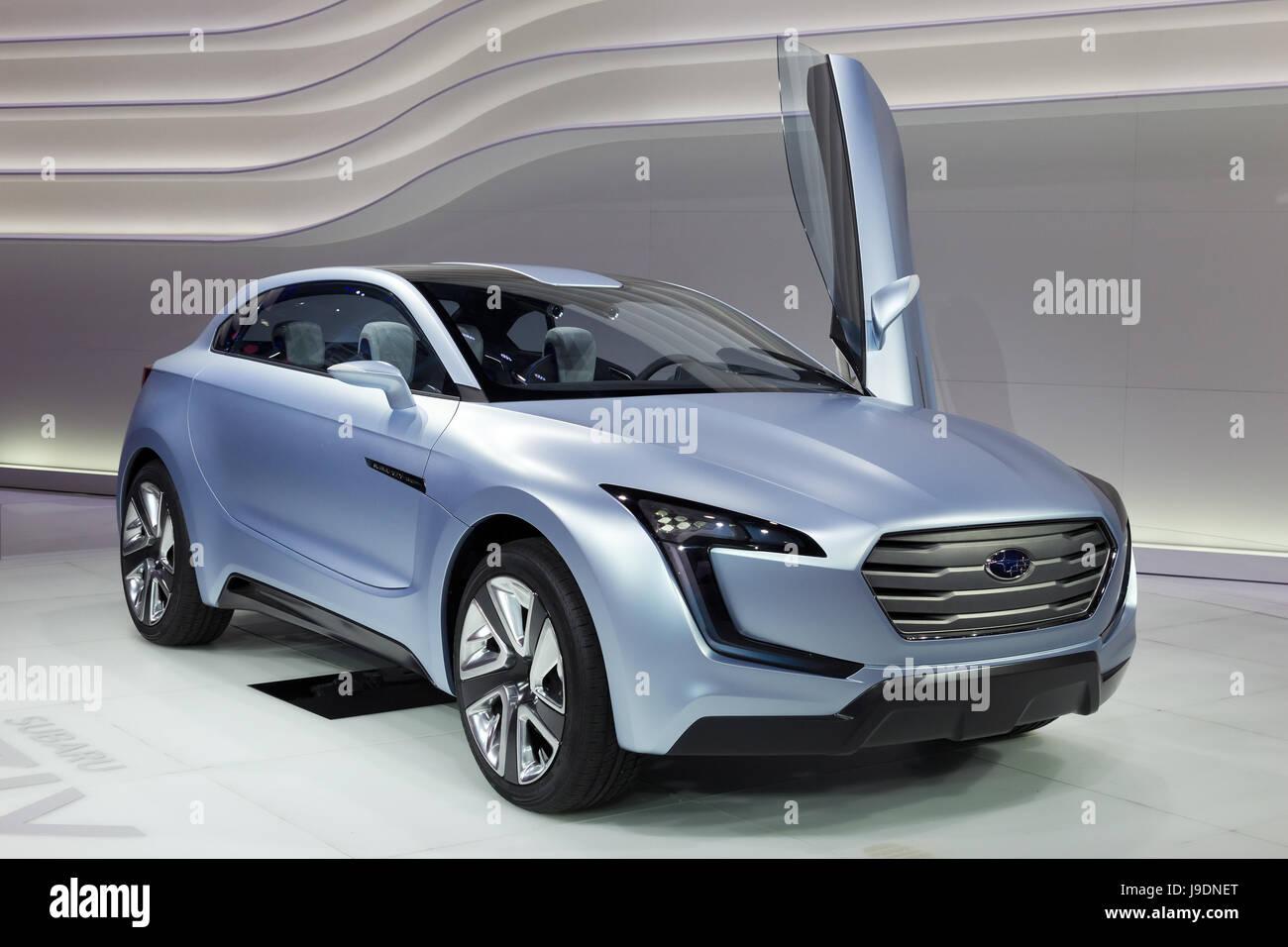 FRANKFURT, GERMANY - SEP 13: Subaru concept car Viziv at the IAA International Automobile Exhibition on Sep 13, - Stock Image