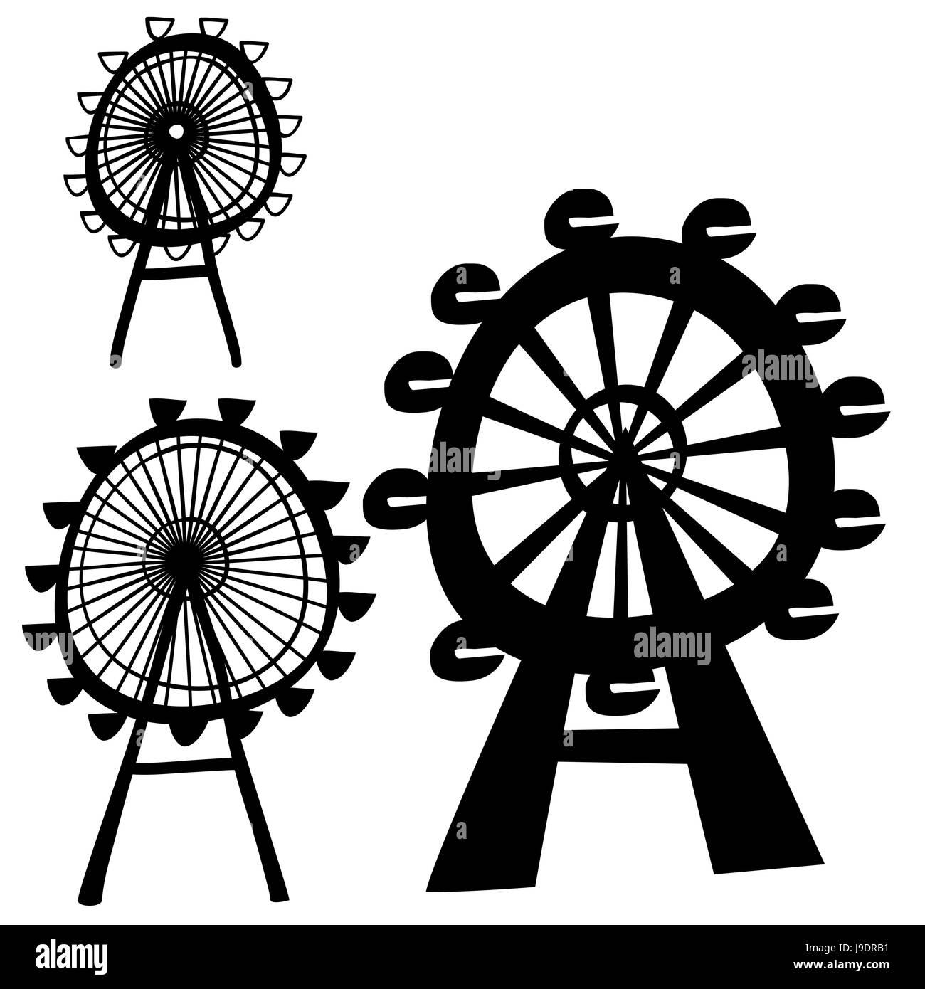 famous, london, eye, sign, landmark, logo, pictogram, symbol, pictograph, trade - Stock Image