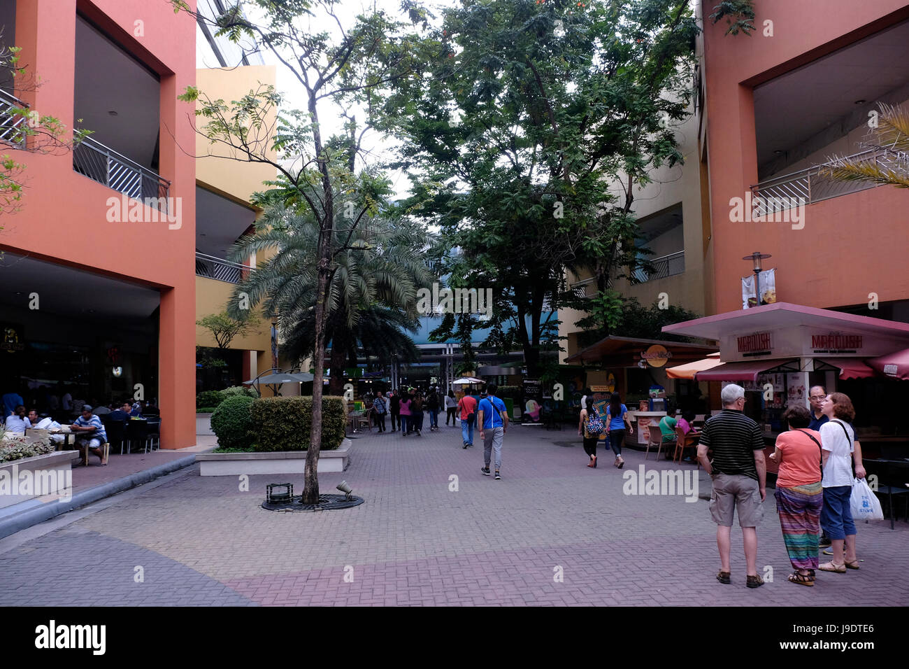 View of a passage at M Mall of Asia, also abbreviated as SM MOA, a shopping mall in Bay City, Pasay, Manila Philippines - Stock Image