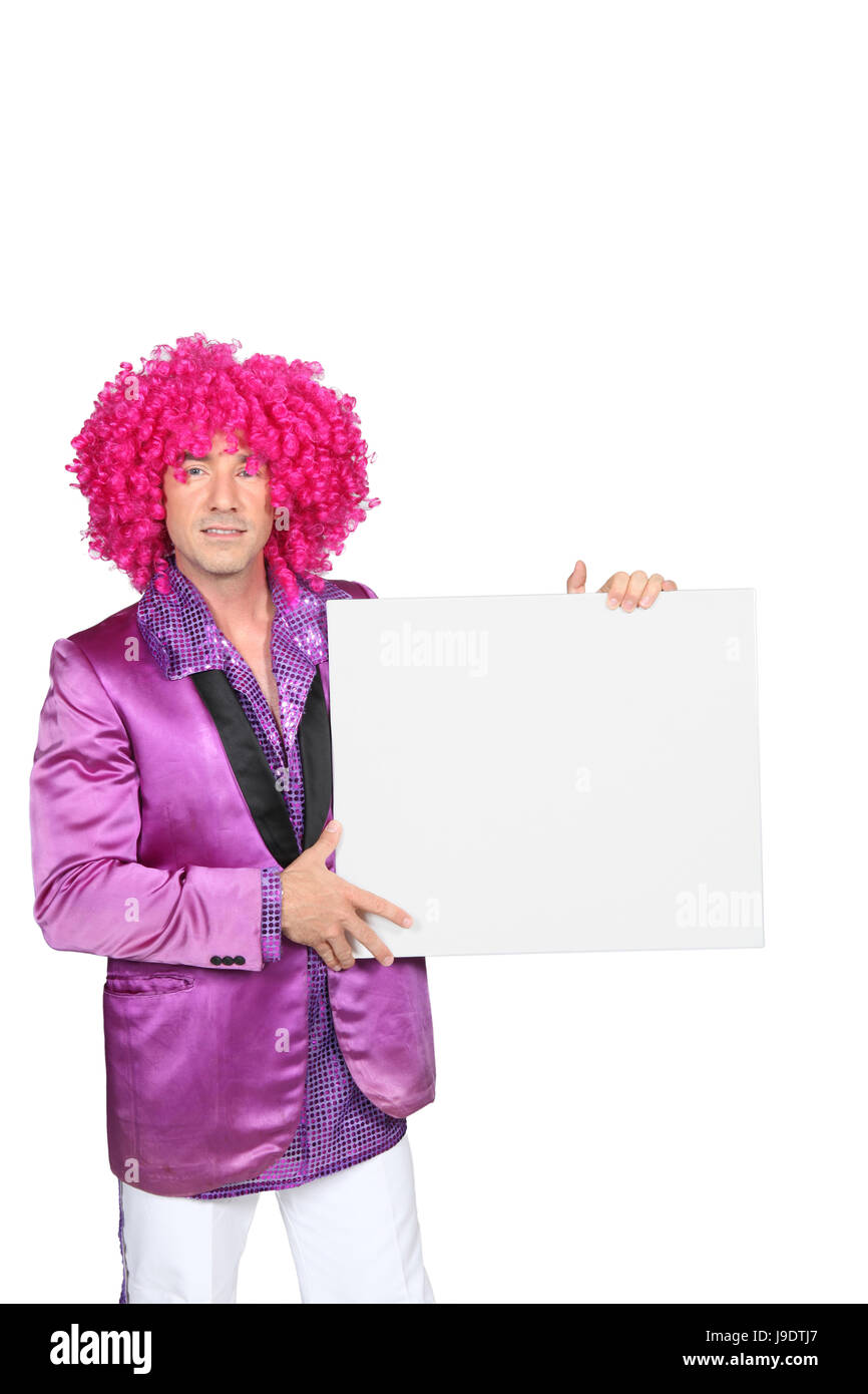 male, masculine, costume, dress, fancy, man, gown, board, closeup, male, - Stock Image