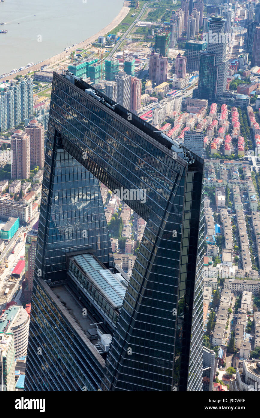 Looking down on the Shanghai World Financial Centre ...
