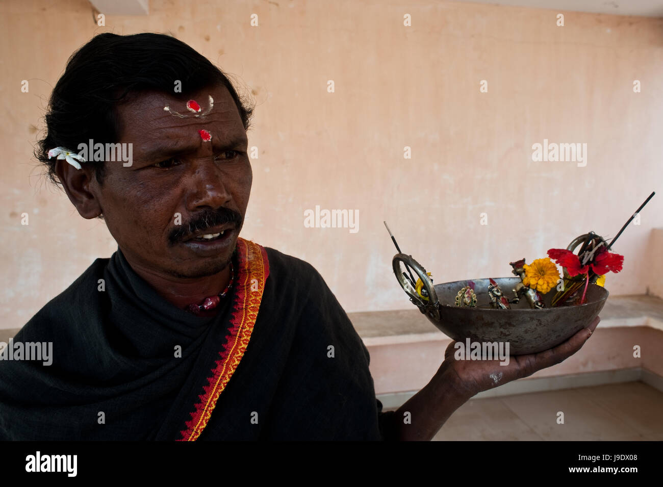 Worshipper of Shani god ( India). Shani is one of the most revered hindu deities. - Stock Image