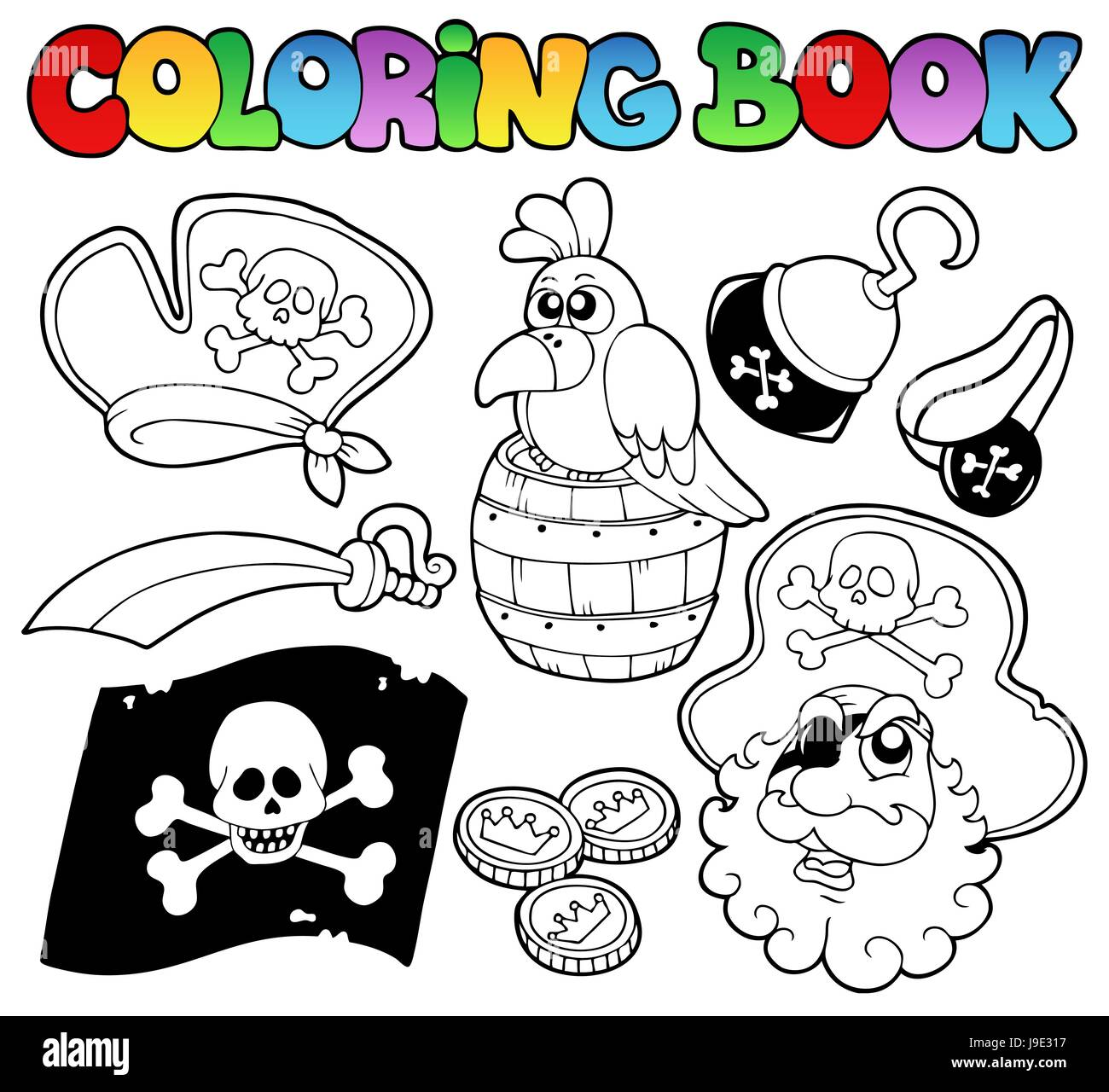 Colour Topic Paint Painted Pirate Colouring Book Danger Art