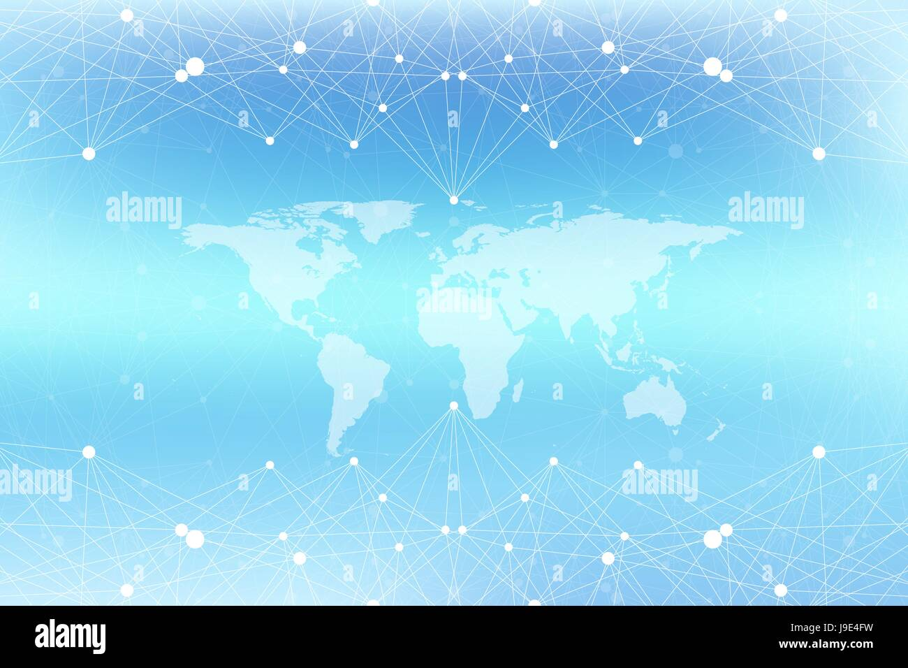 Graphic abstract background communication with world map big data graphic abstract background communication with world map big data visualization perspective backdrop with connected lines and dots social networking gumiabroncs Choice Image