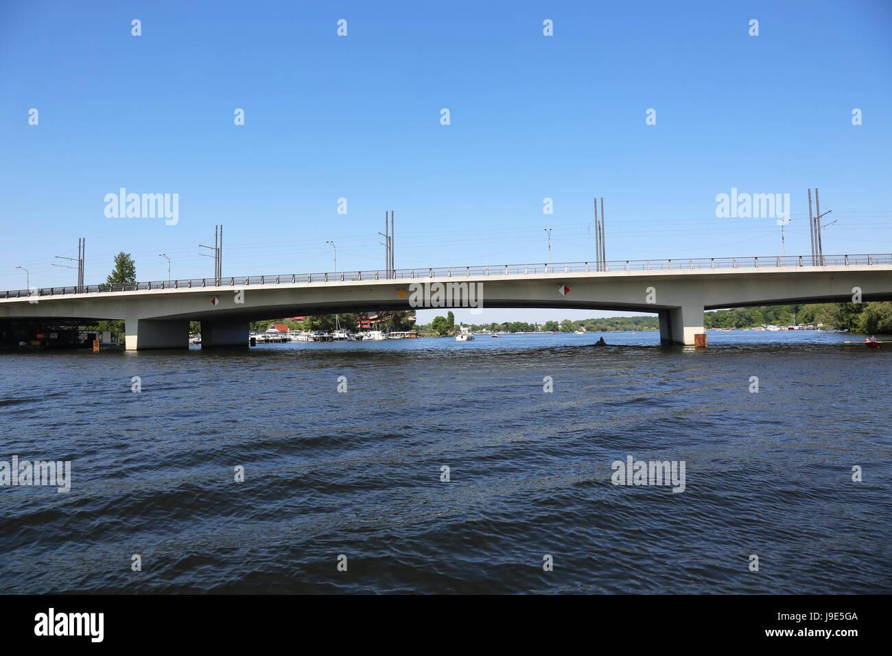bridge, potsdam, berliner, arterial road, concrete, steel, centre, city, Stock Photo