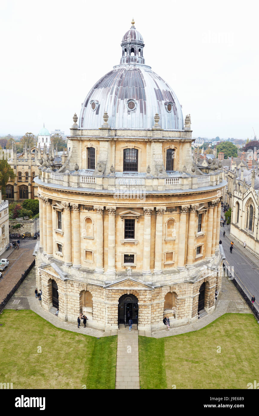 OXFORD/ UK- OCTOBER 26 2016: Elevated View Of Radcliffe Camera Building In Oxford Stock Photo