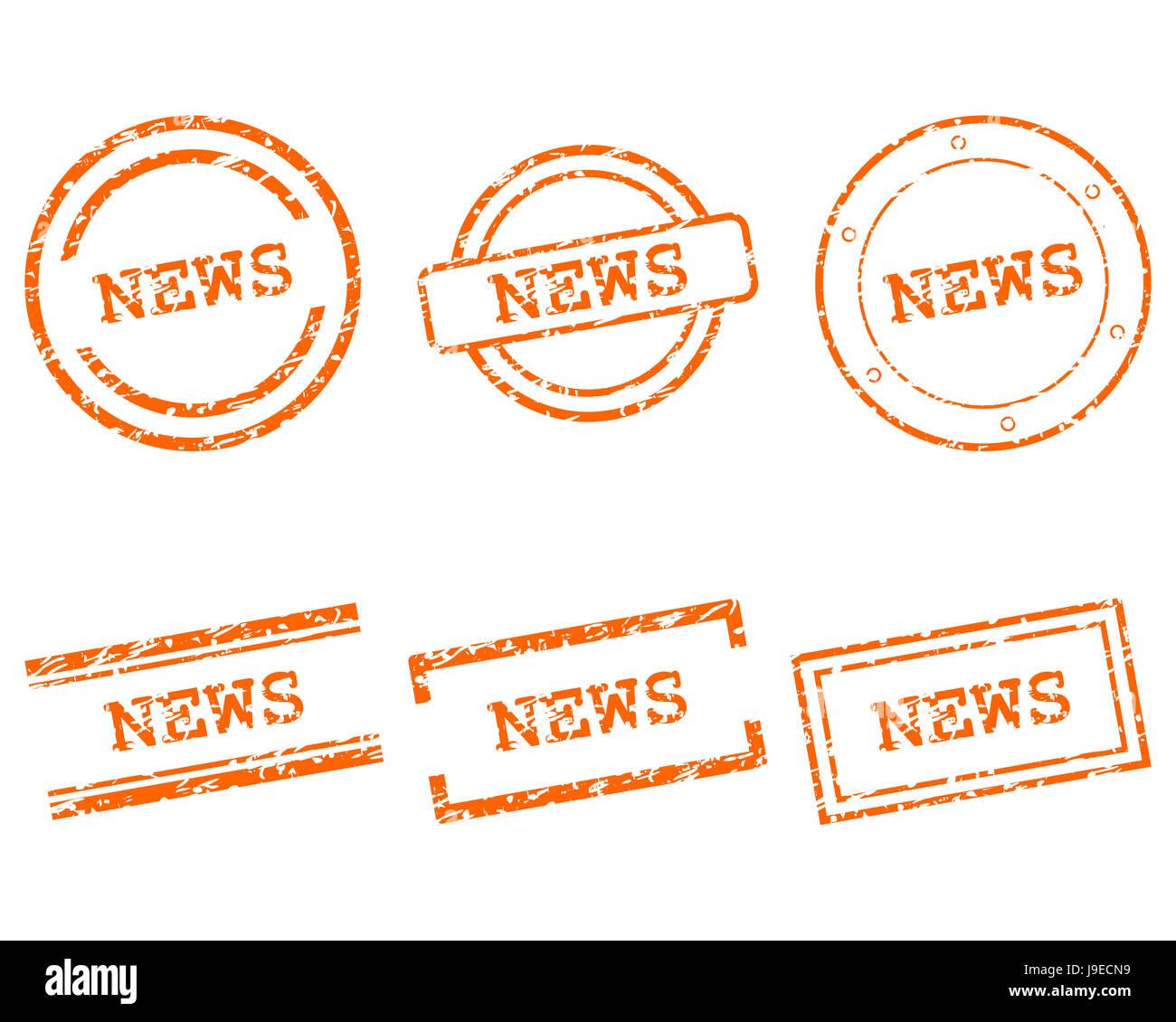 news stempel - Stock Image