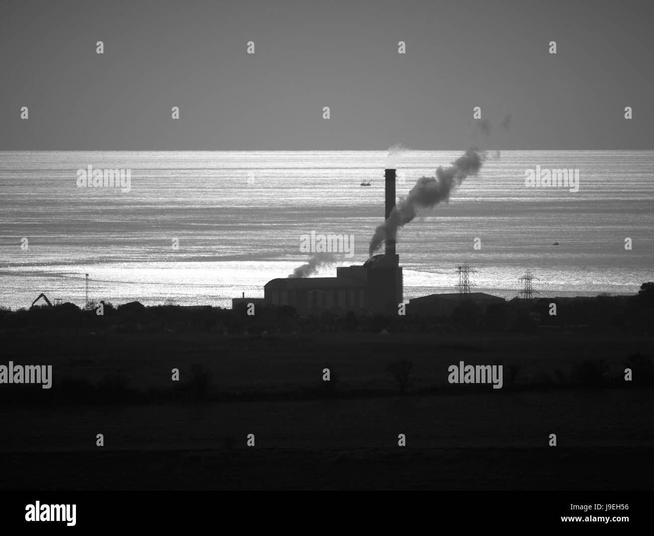 Shoreham Power Station, Shoreham Harbour, West Sussex - Stock Image