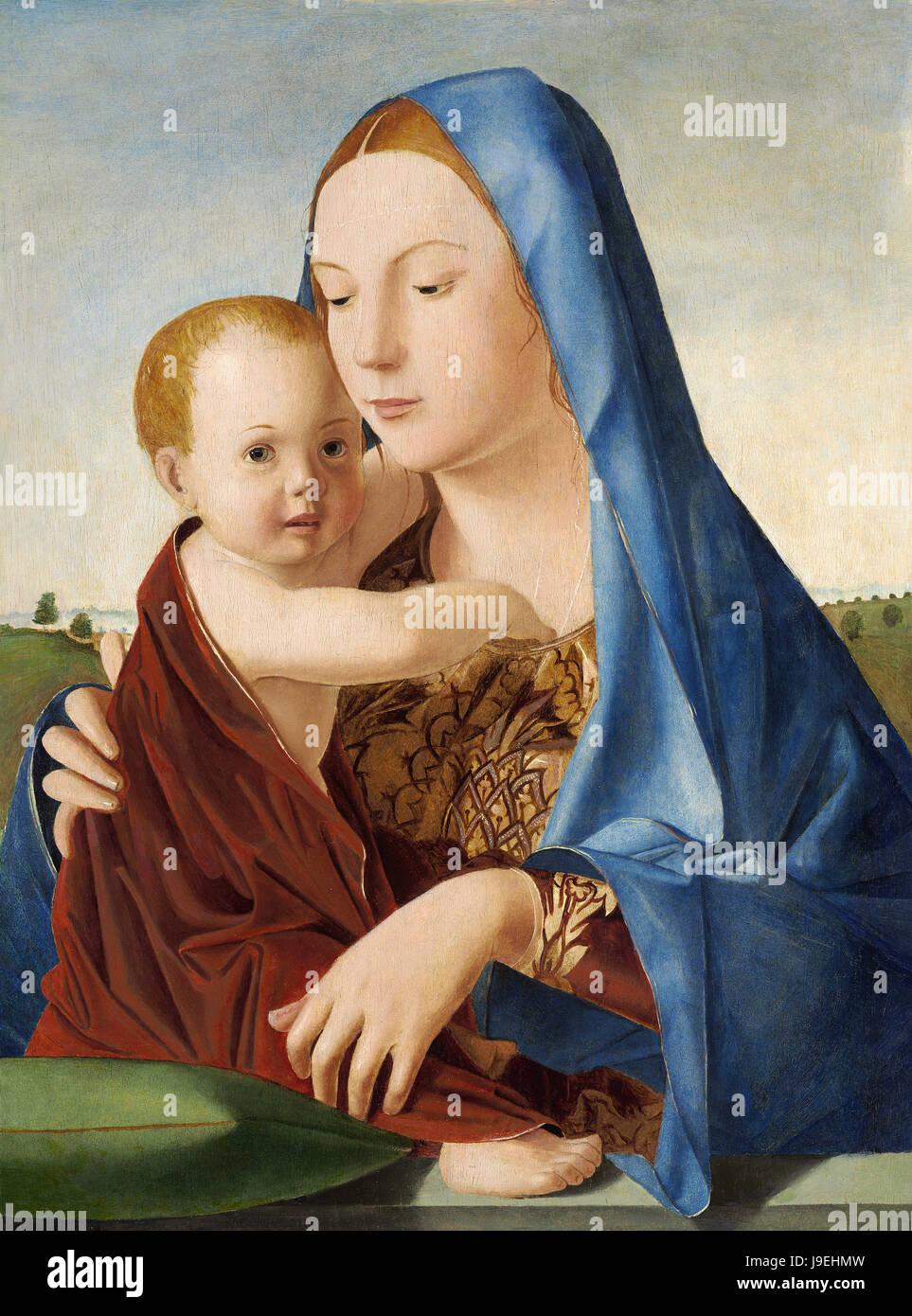 Antonello Da Messina  - Madonna and Child Stock Photo