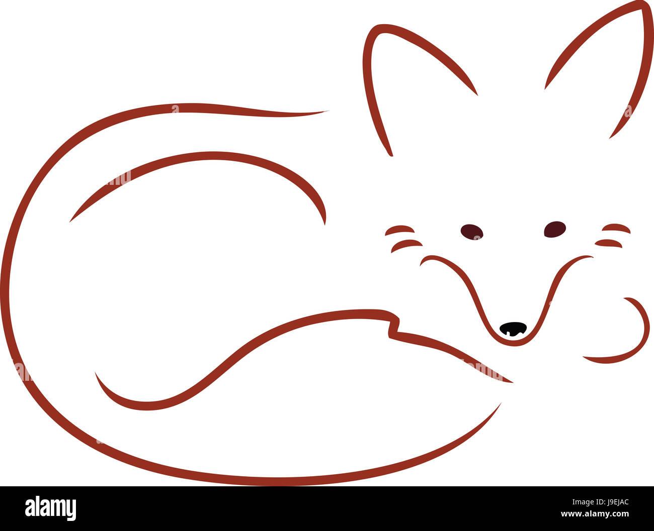 hunter, creature, predator, fox, maddening, pert, coquettish, cute, red, - Stock Image