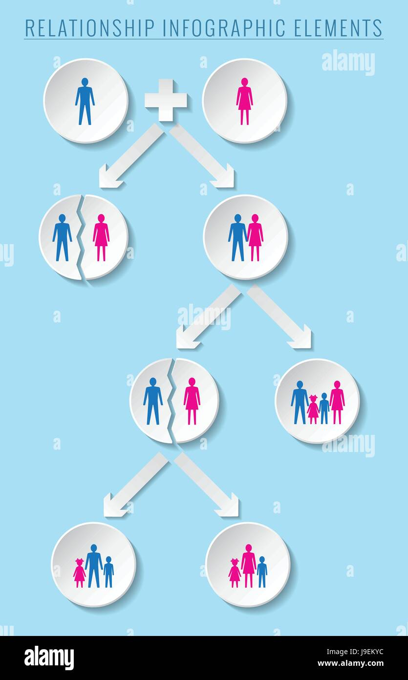Infographic elements. Relationship and family concepts. - Stock Vector