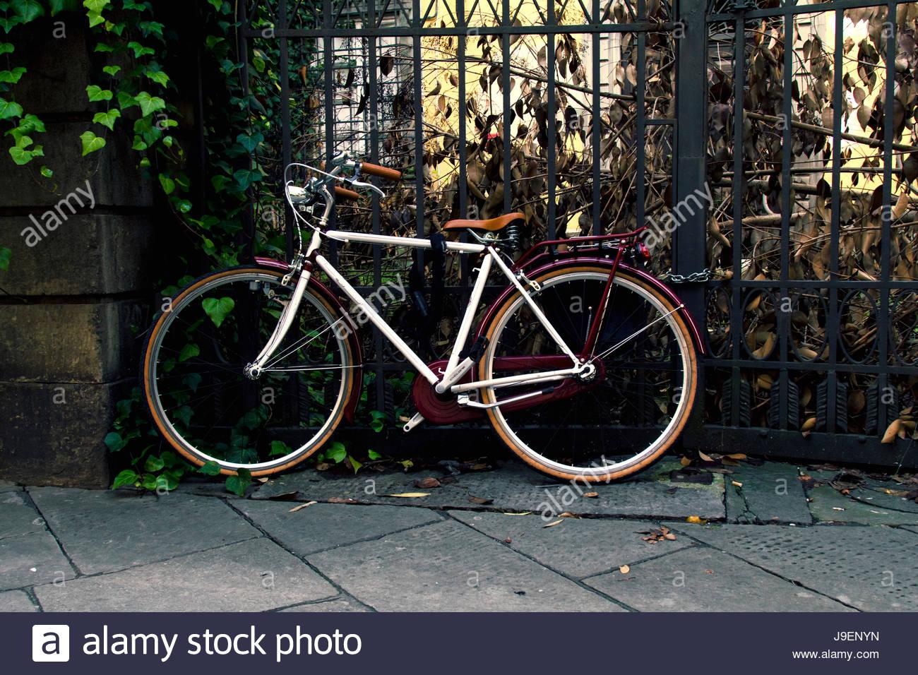 Bicicletas antiguas en Italia (Toscana) - Stock Image