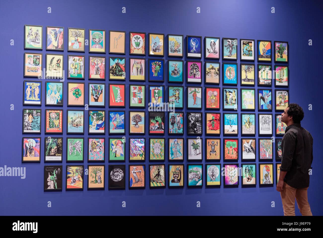 Brazil, Rio de Janeiro, galleries in Rio Art Museum (MAR; Museu de Arte do Rio) - Stock Image