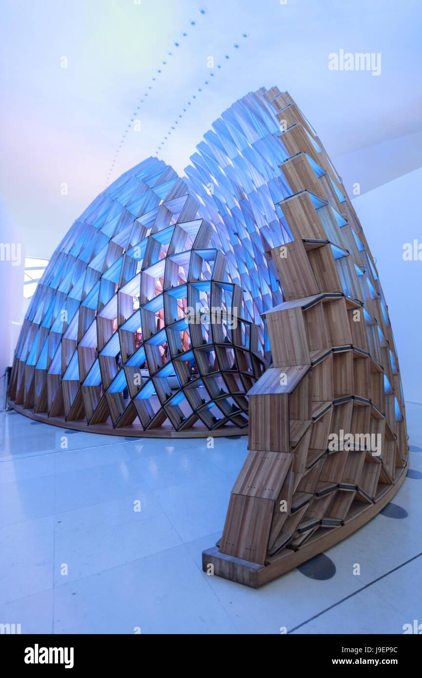 Interior of the Museum of Tomorrow (Museu do Amanha) by Santiago Calatrava - Stock Image