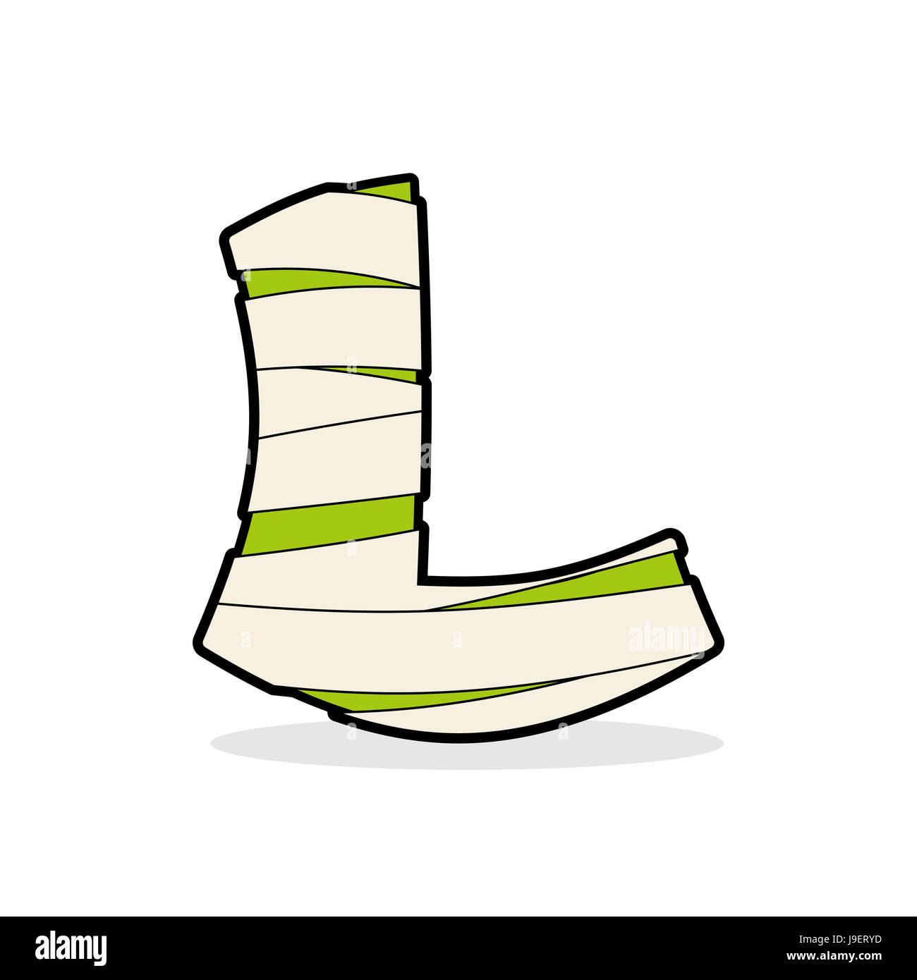 Letter L Egyptian zombies. Mummy ABC icon coiled medical bandages ...