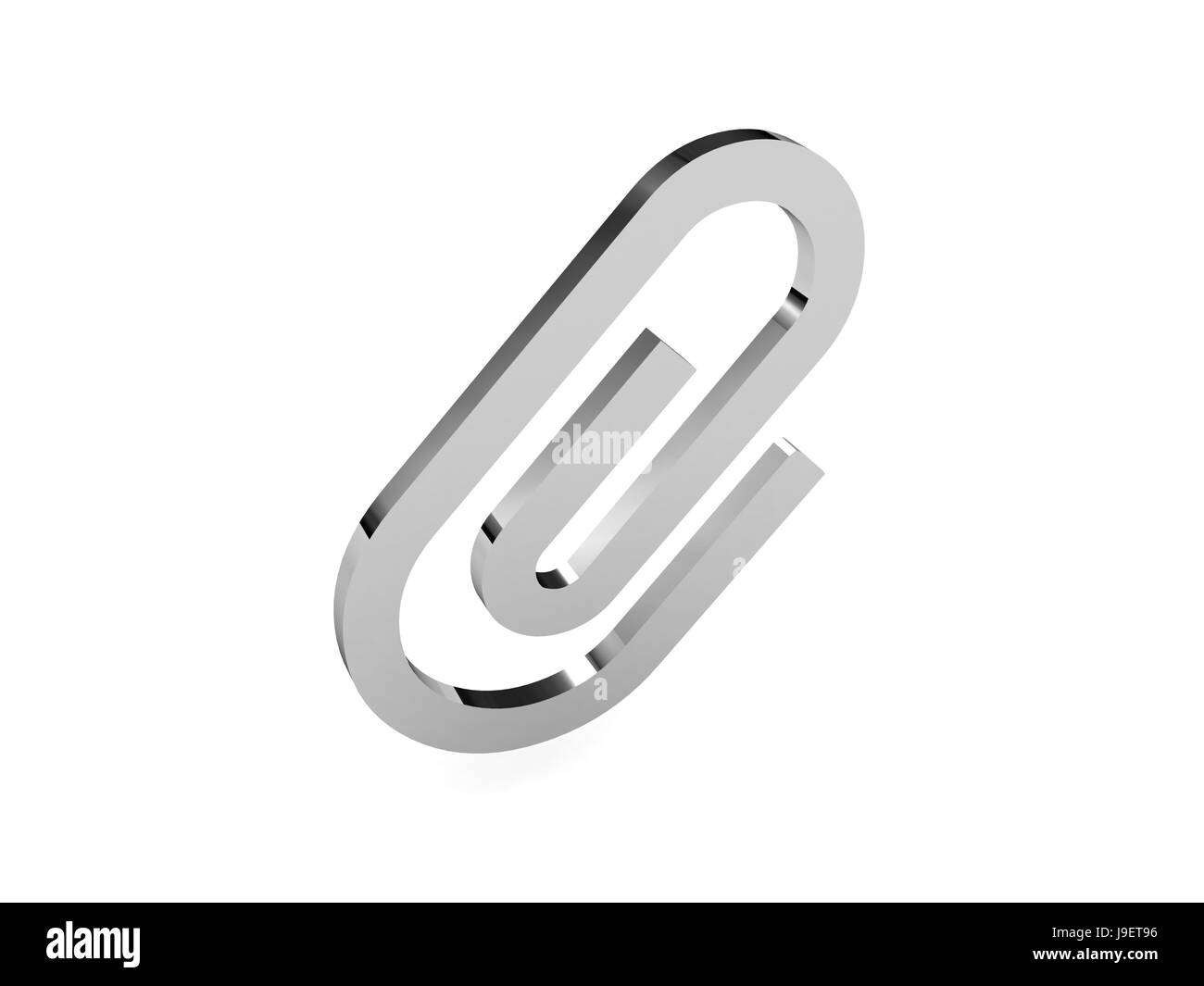 Clip icon over white background. Concept 3D illustration. - Stock Image
