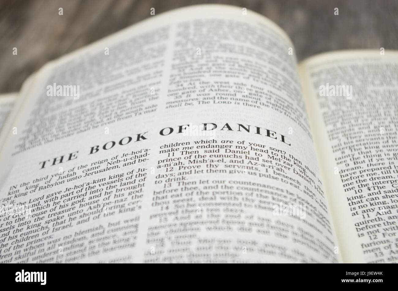 Title page for the book of Daniel in the Bible – King James Version - Stock Image