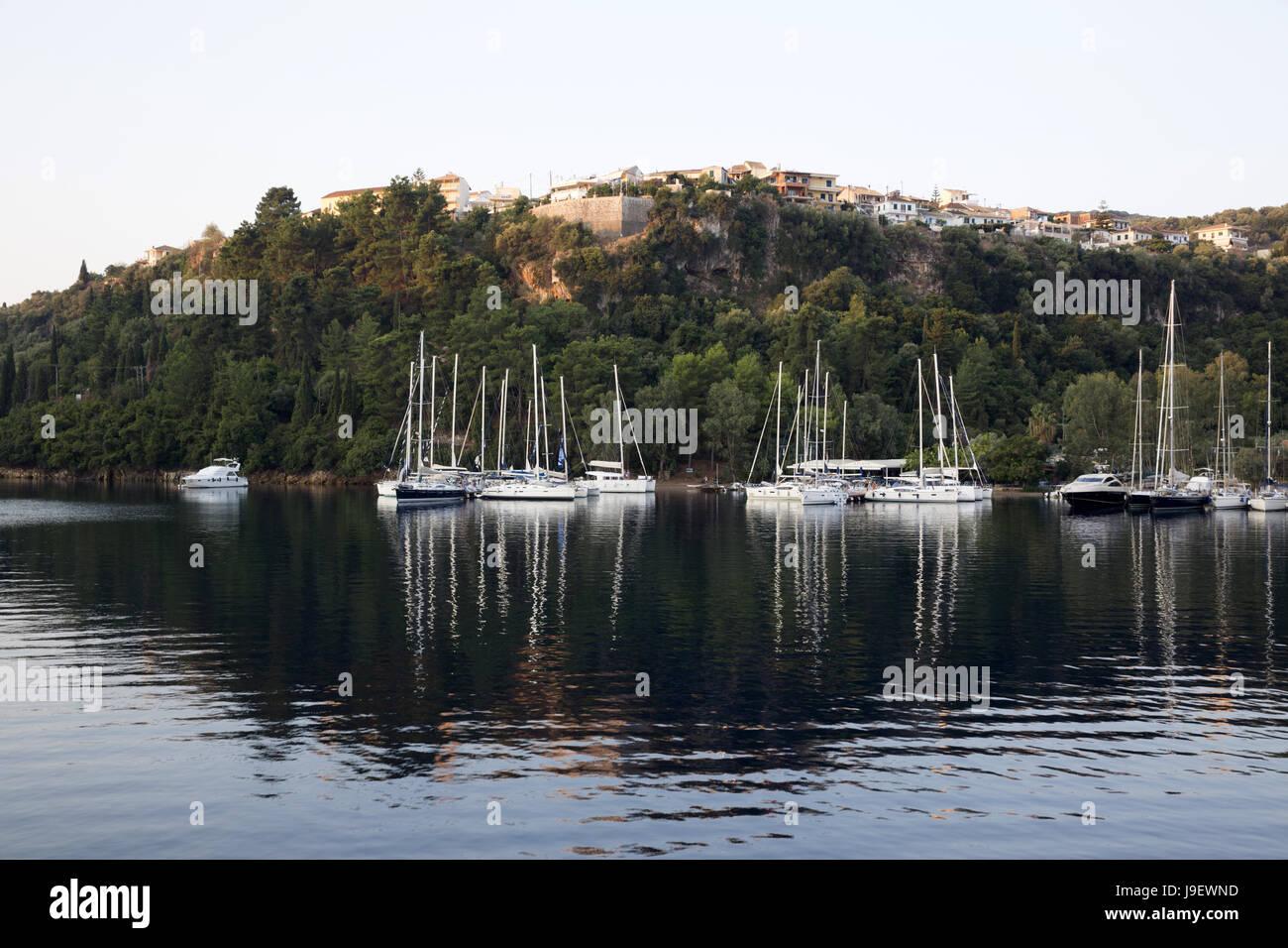 Spilia and Spartochori, Meganisi, Greece - Stock Image