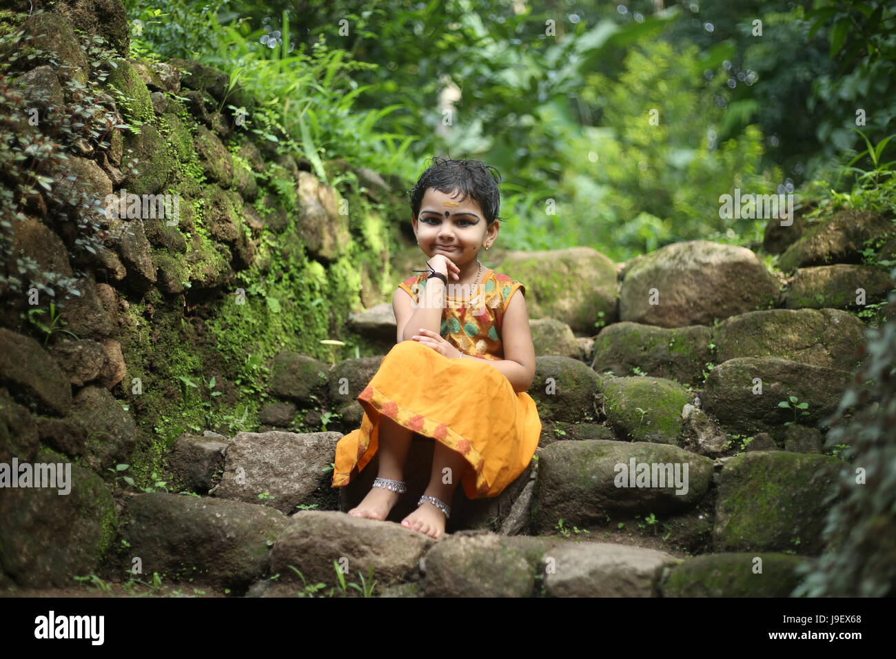 Cute Girl Kerala Stock Photos & Cute Girl Kerala Stock