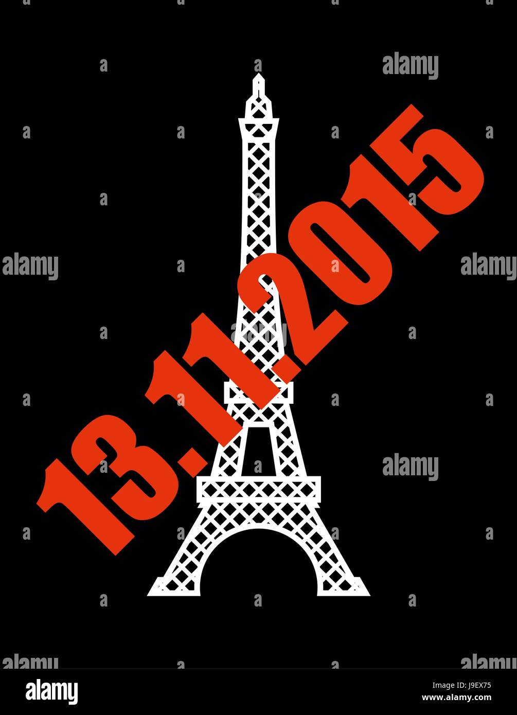 13 November 2015 Terrorist Attack In Paris National Symbol Of