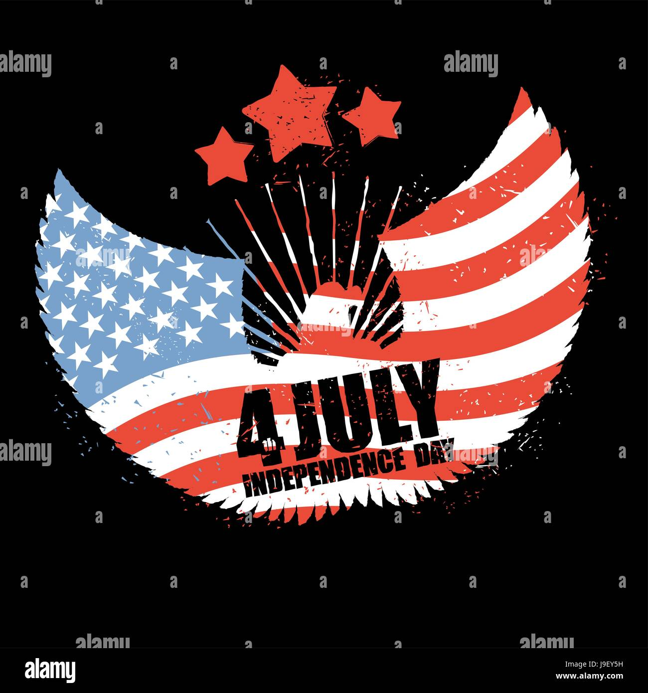 Independence Day America Symbol Of Countrys Eagle With Wings And