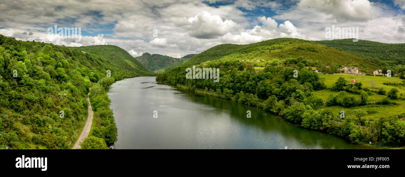 Canyon of river Ain. Ain. Auvergne Rhone Alpes. France Stock Photo