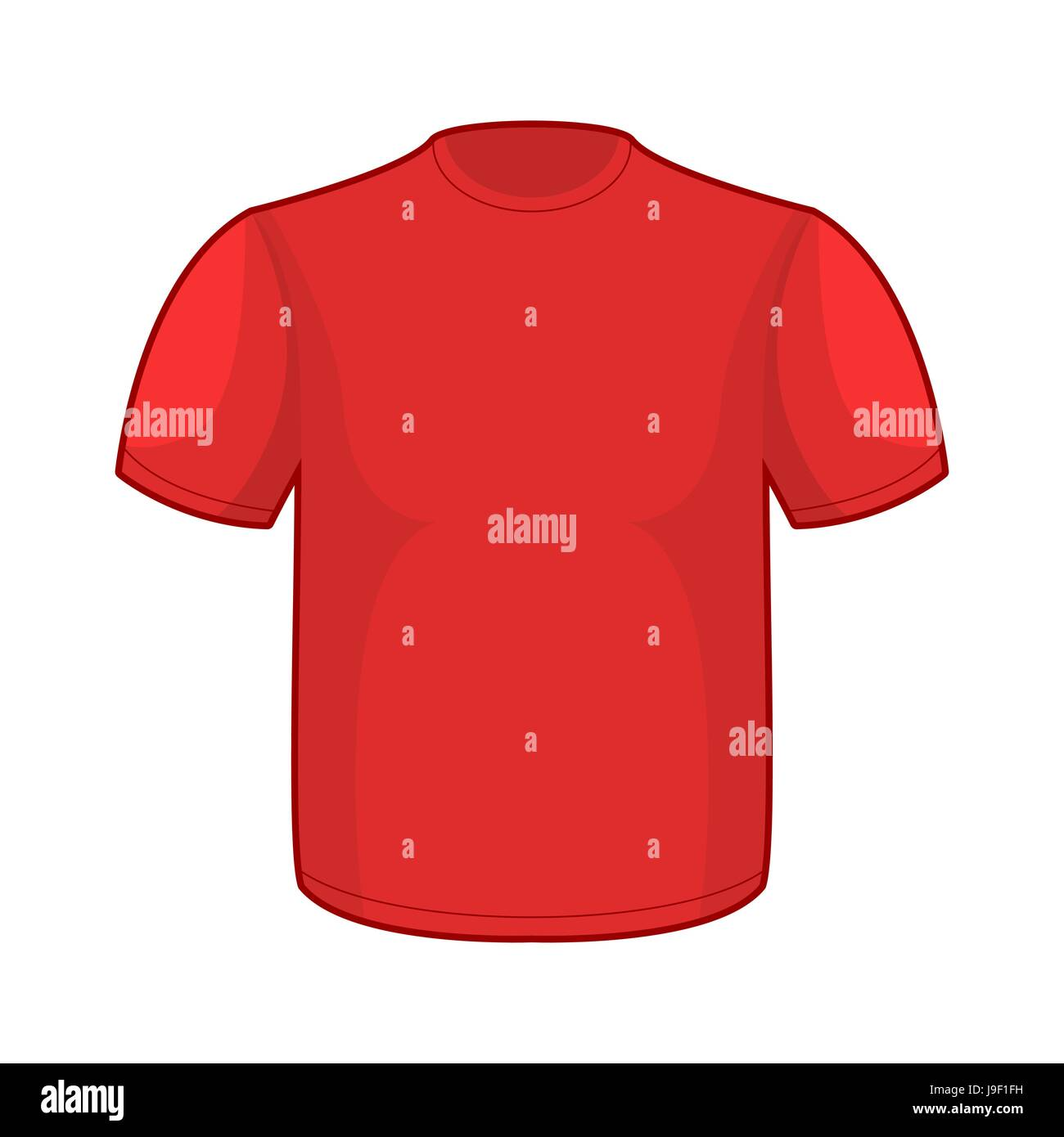 Red T-shirt template. Empty clothes for your design Stock Vector Art ...