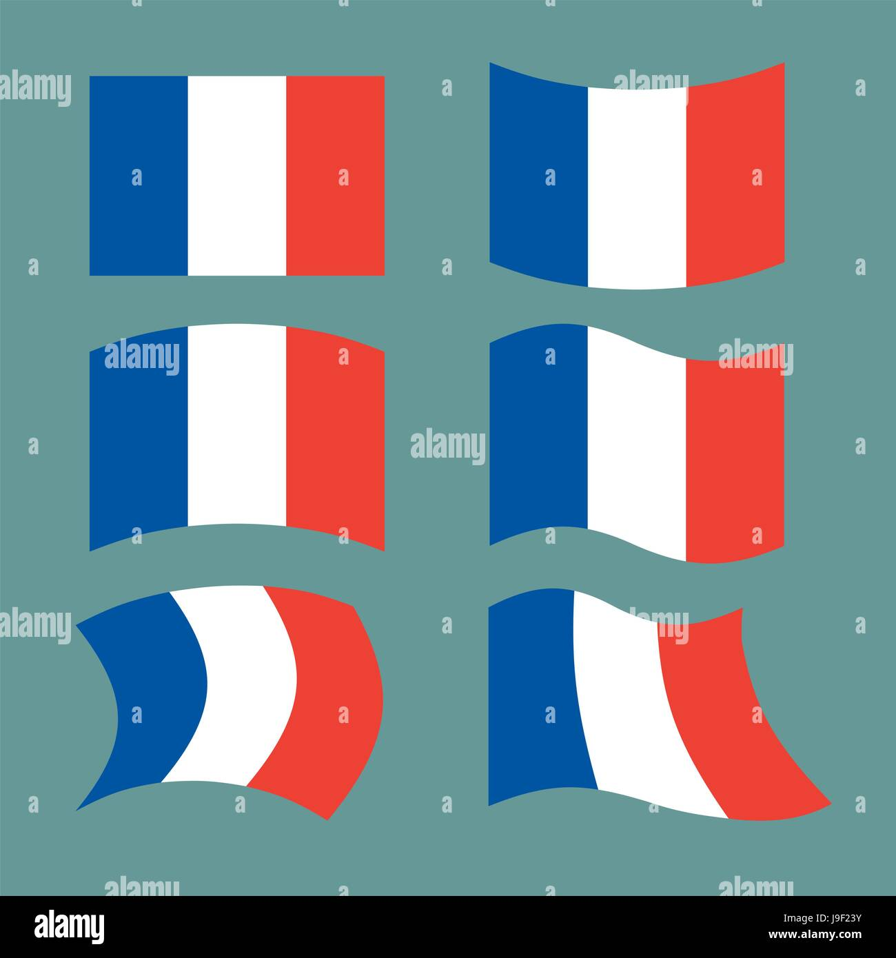 Flag Of France Set National Flag Of French State State Symbol Of