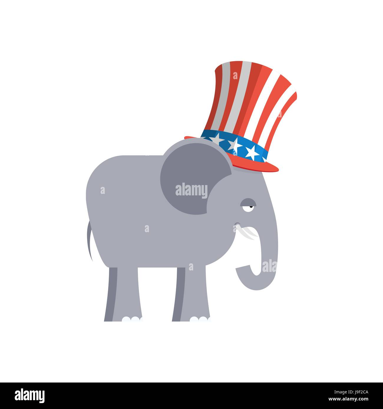 Elephant In Uncle Sam Hat Republican Elephant Symbol Of Political