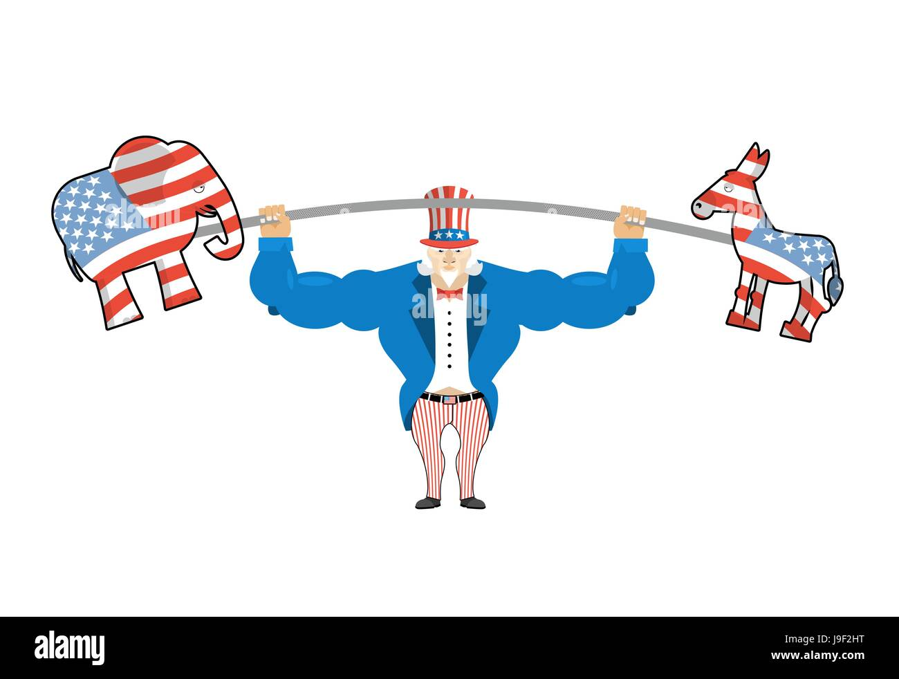 uncle sam and donkey and elephant democratic donkey and republican