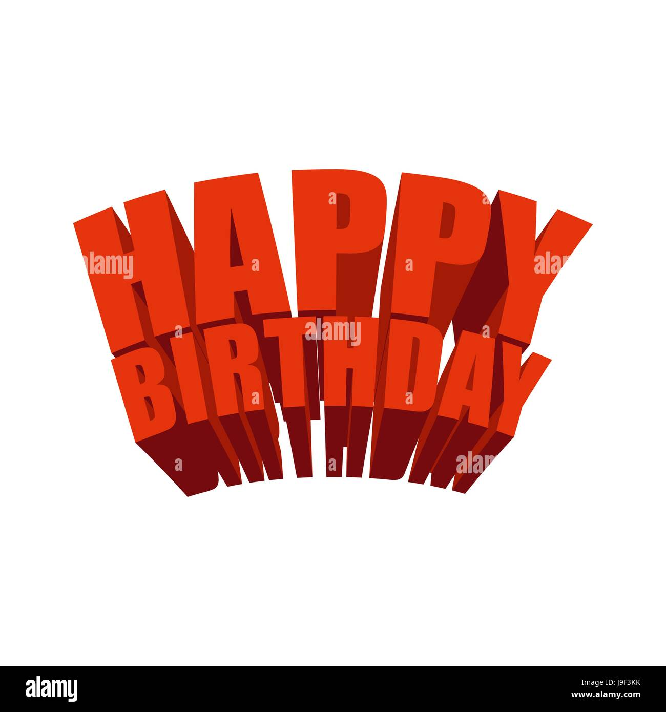 Happy Birthday 3d Text Logo For Holiday Festive Text For Greeting