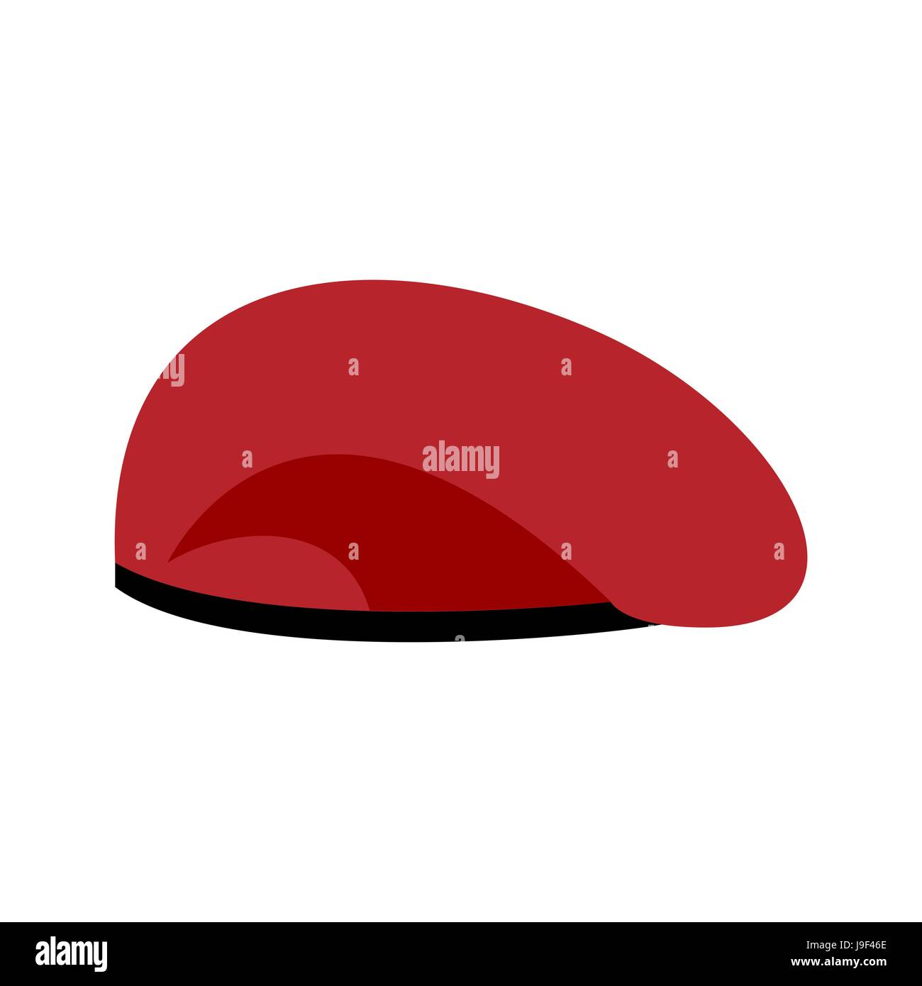fe19a94e018 Beret military red. Soldiers cap. army hat. War barret Stock Vector ...