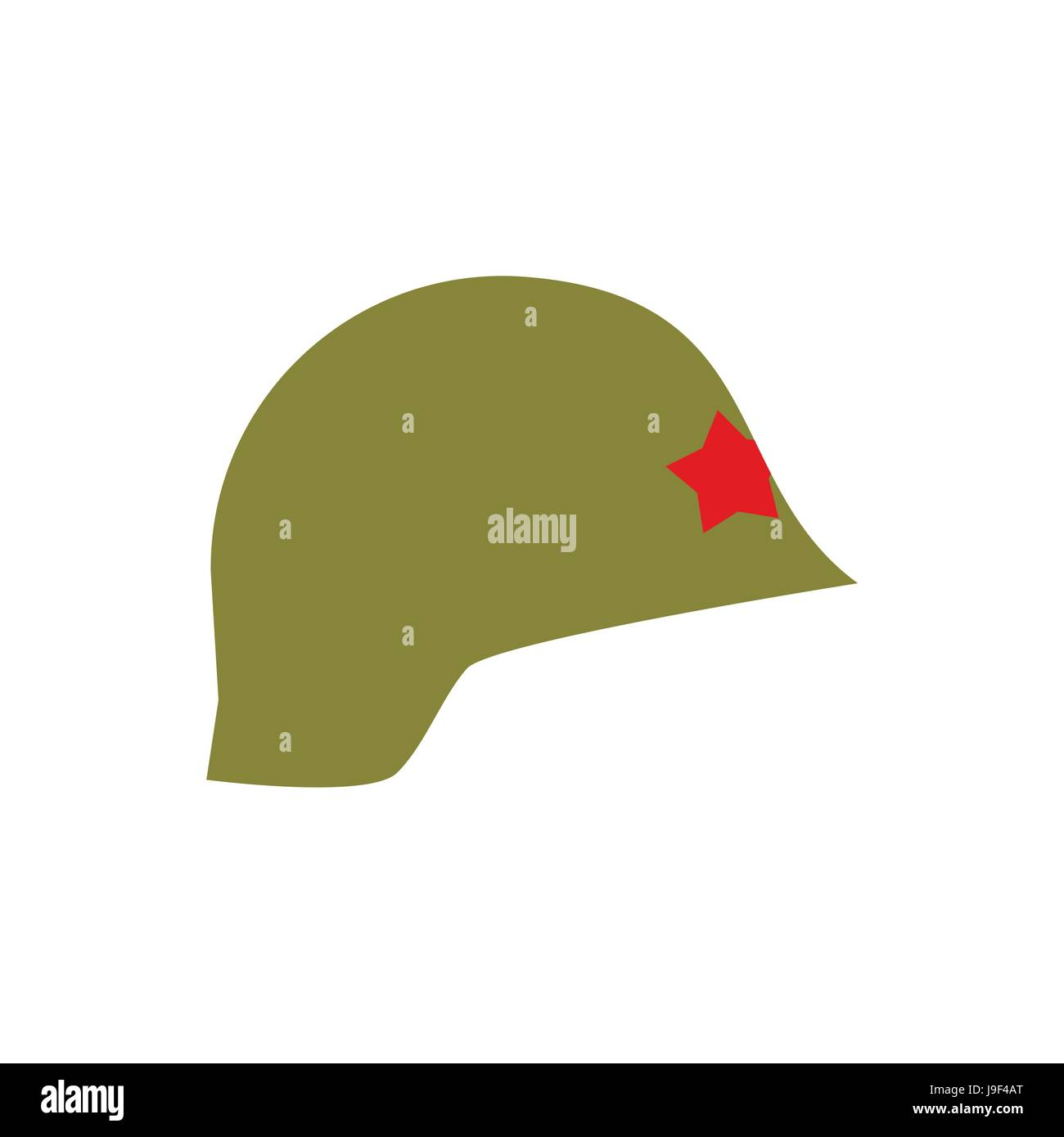 Retro military helmet isolated. Vintage Army cap on white background. Soldiers protection hat Stock Vector