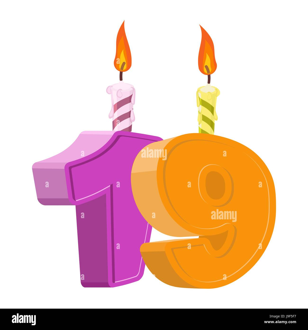 birthday number 19 candle