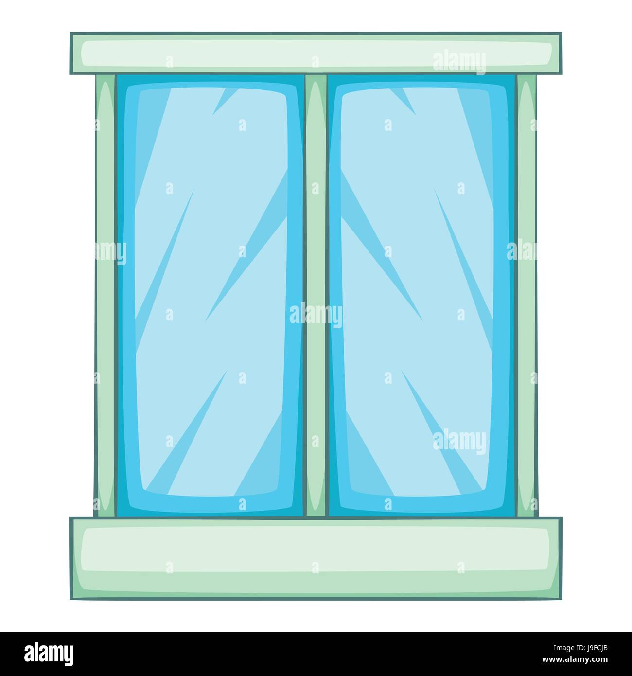 Window icon, cartoon style Stock Vector