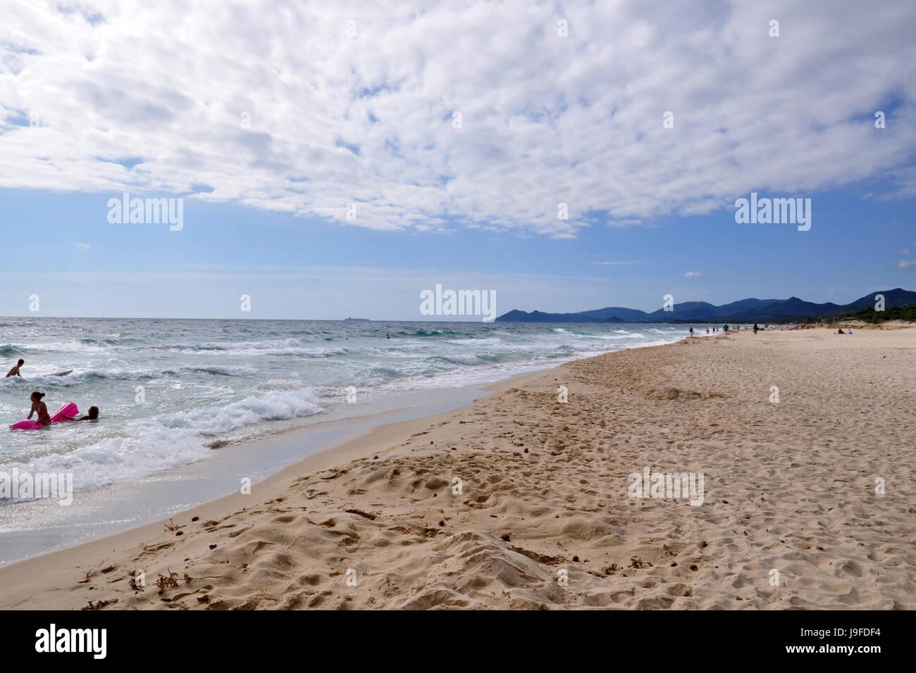 Campulongu beach view on Sardinia island in Italy - Stock Image