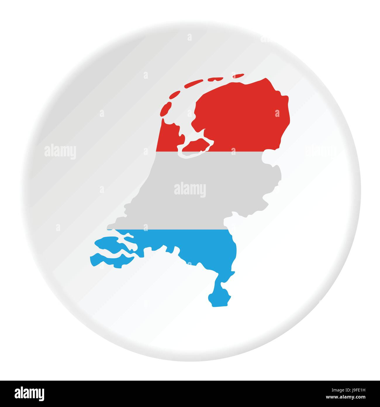 Map of Holland icon, flat style - Stock Vector