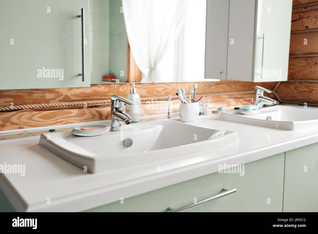 Bathroom Wooden Floor Stock Photos & Bathroom Wooden Floor Stock ...