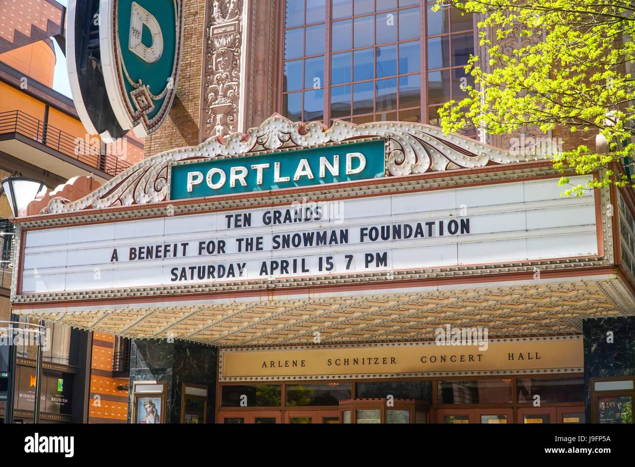 Portland Downtown Arlene Schnitzer Concert Hall PORTLAND - Schnitzer concert hall portland