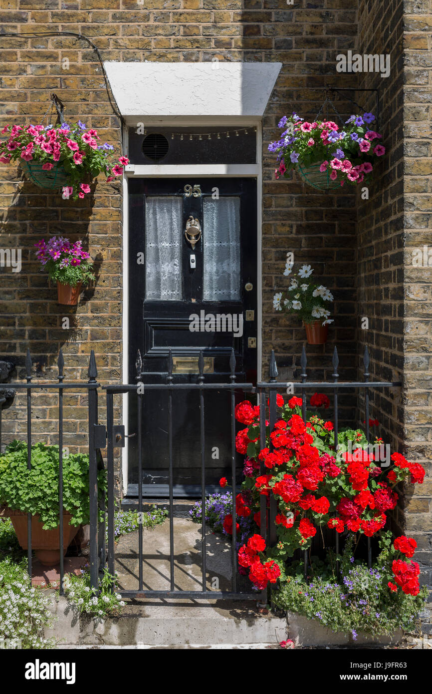 Front Of House Design Software: Front Of House Hanging Baskets Stock Photos & Front Of